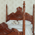 Four Poster Versailles Bed in Mahogany